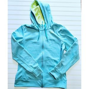 North Face Full Zip Warmup Hoodie Mint Green  L